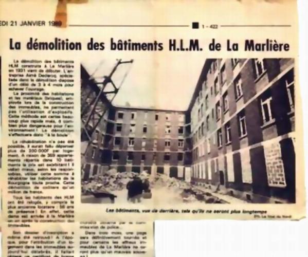 Les Appartements de La Marlière demolition 1