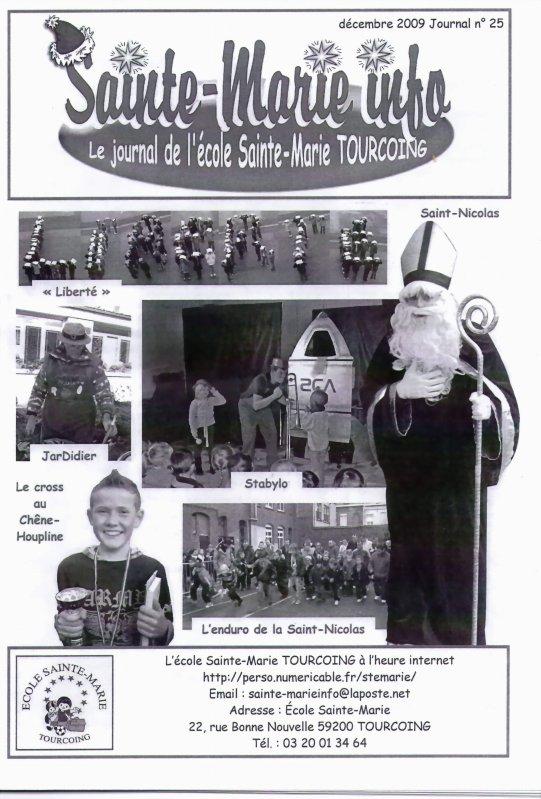 Journal Ecole Sainte Marie à la Croix Rouge