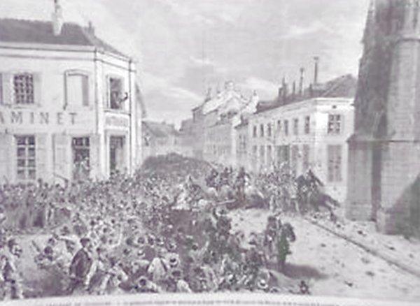GRAVURE ÉMEUTES A TOURCOING LE NORD COUVENT DES MARISTES 1880