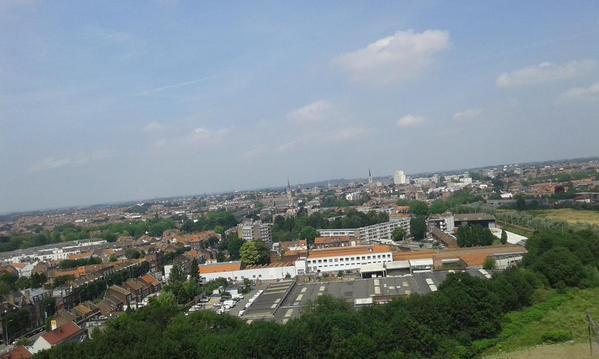 Visite de la Tour Mercure rénovée. Une vue incroyable  de Tourcoing et des environs de la terrasse.