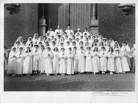 10 juin 1962 Pentecôte Communion à Sainte Anne