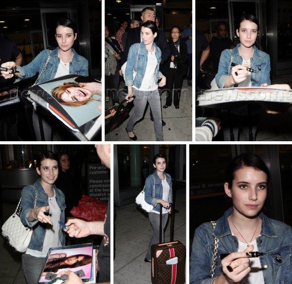 Emma arrivant a toranto le 9 septembre