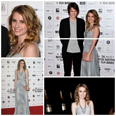 Emma Robert au Moet British Independent Film Awards 2010 a Londres le 5 décembre