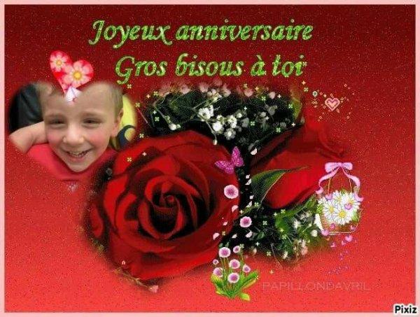 Bonne anniversaire pour t'ai 3 ans jtm mon coeur bisous maman