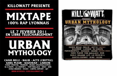 URBAN MYTHOLOGY DEBARQUE LE 7 FEVRIER 2011 !!!