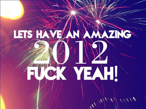 Passer en 2012, c'est avant tout boire 10 litres de champagnes sans se soucier du bidon qui arrive & embrasser le premier qui se trouve à côté de toi à 00h sans gêne : C'EST EXCELLENT! :)