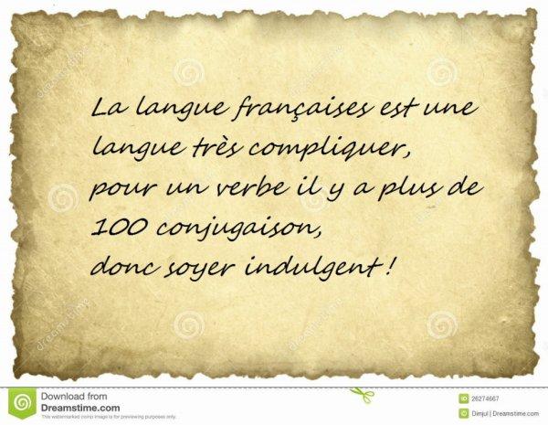Les fautes français!