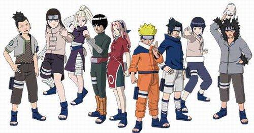 Shikamaru ino lee sakura naruto sasuke hinata et kiba Naruto