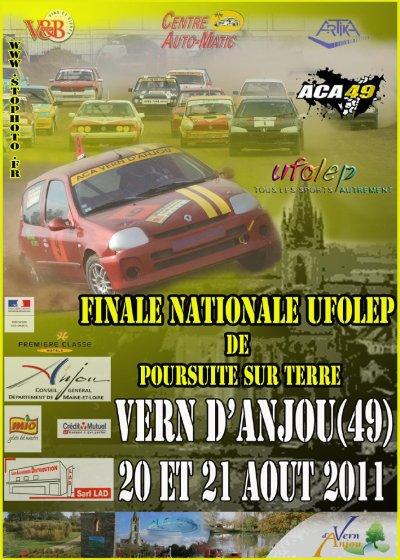 Finale nationale Ufolep de poursuite sur terre à Vern d'Anjou le 20 et 21 Aout