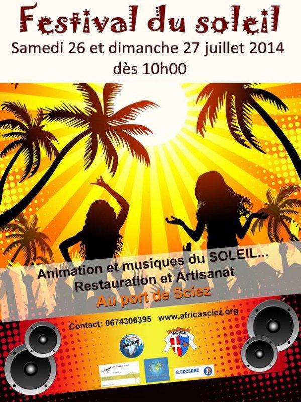Festival du Soleil été 2014 :) Venez nombreux :)