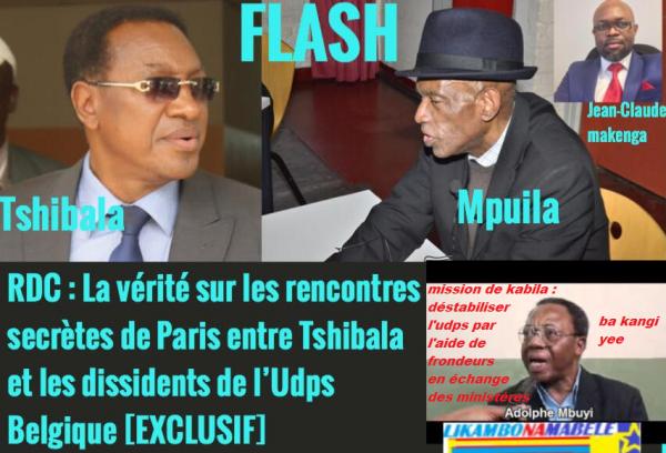 Alerte conspiration, en échange des ministères et 30Mille$, les frondeurs on rencontré Tshibala à paris