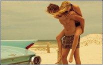 « J'ai attrapé un coup d'soleil, un coup d'amour, un coup d'je t'aime. »