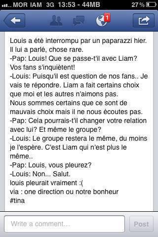 Louis ne pleure pas ! :(