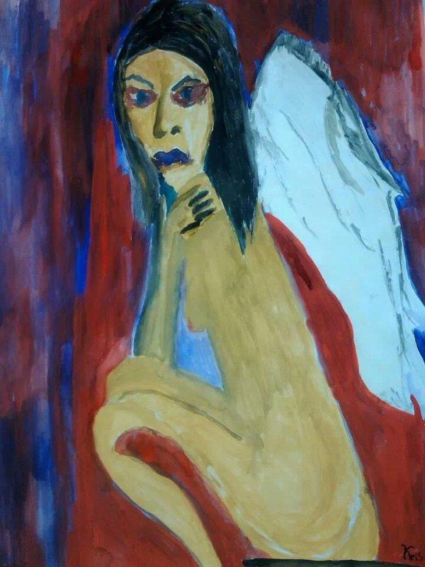 Autoportrait Acrylique 30x40