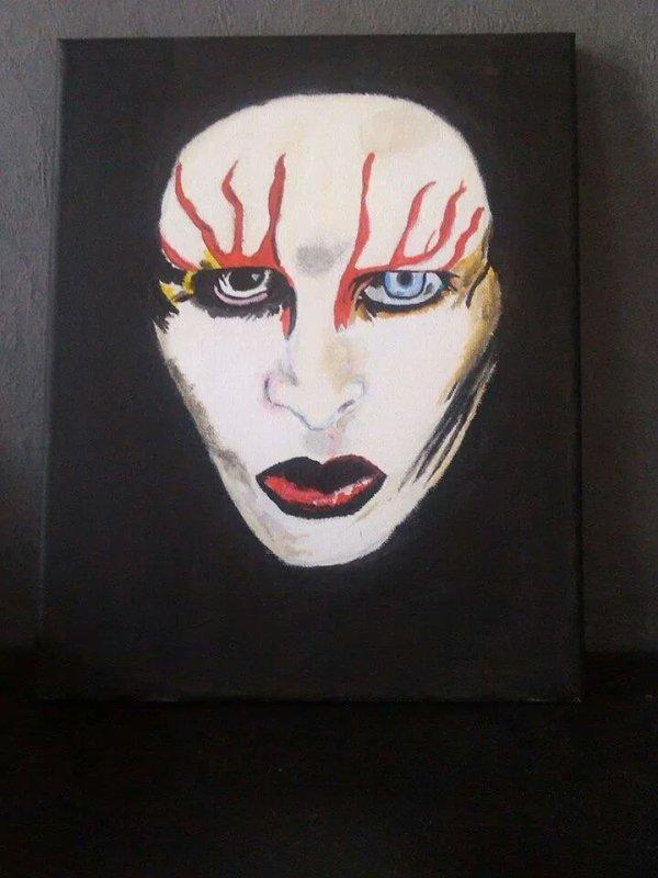 Marilyn Manson acrylique 40x40