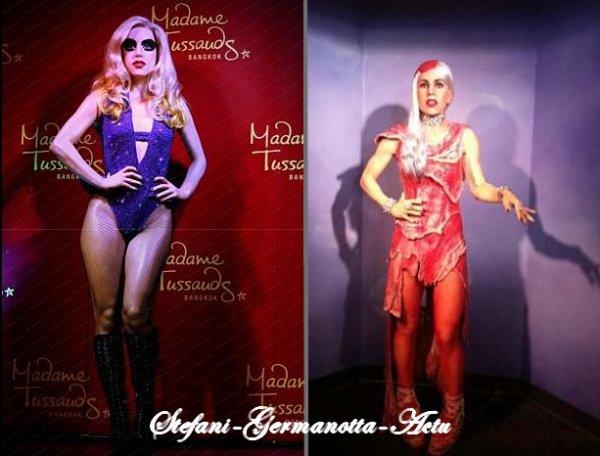 Deux nouvelles statues de cire représentant Gaga  sont musée Madame Tussauds