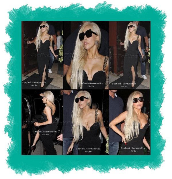 10/08/11 - Lady gaga a était vu le 10 sortant du restaurant Crustacean dans Los Angeles à Beverly Hills . + Il y a eu un petit problème pour en savoir plus va ici
