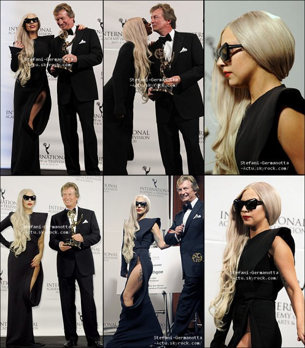 21/11/11 - Lady Gaga a été vu à la cérémonie International des Emmy Awards à Manhattan . Top ou Flop ?