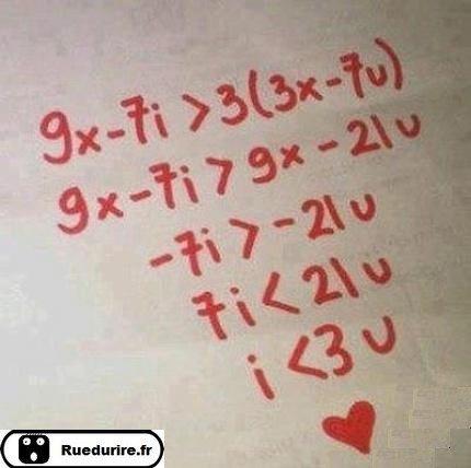 L'Amour ce trouve même dans les math !!