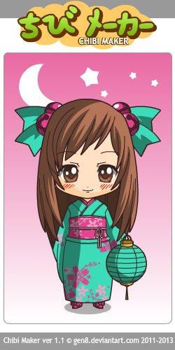 Chibi en kimono