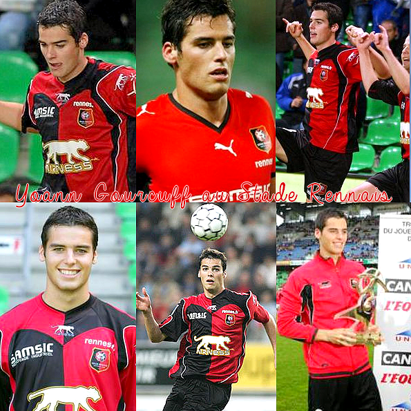 PHOTO - Yoann Gourcuff accompagnié du Stade Rennais (2001-2006).