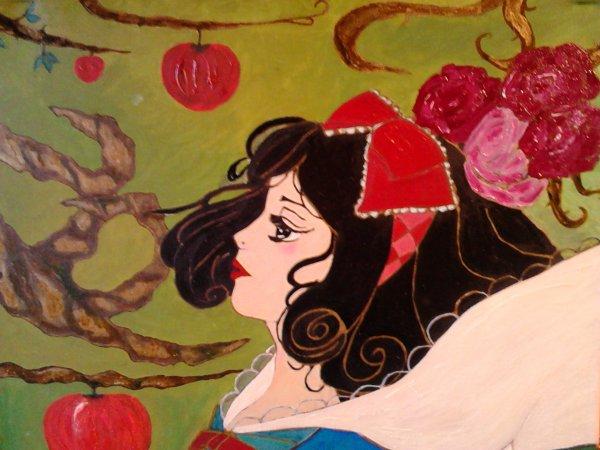 Ma peinture de Blanche Neige
