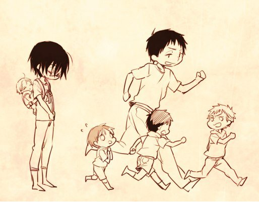 Tôô is the cutest family ever ... (Mini doujin ARCHI CUTE)