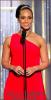 """Alicia Keys , a participé à la cérémonie des Golden Globe Awards qui avait lieu à Los Angeles.  Elle a présenté le film """"Black Swan"""" qui était en compétition. Toujours aussi radieuse !"""