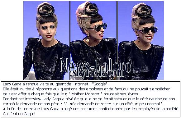 Lady Gaga chez Google !