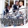 Perché sur le balcon de son hôtel , Kanye a embrasser ' fougueusement ' Angela Martini ( Miss Albanie 2010 )