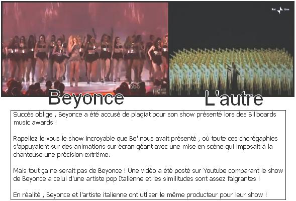 Beyonce accusé de plagiat : Vidéo !