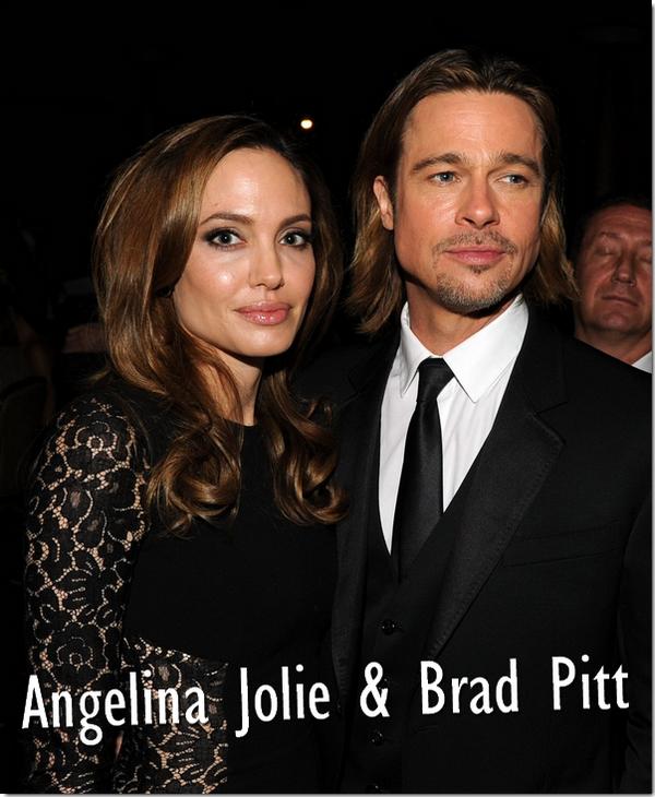 Angelina Jolie : Accompagnée de Brad Pitt, elle était présente aux Producers Guild Awards, cérémonie récompensant les producteurs, car en effet, Angelina Jolie est désormais productrice et son premier long métrage, In the land of blood and honey (Au pays du sang et du miel) a été récompensé lors de cette cérémonie .