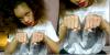 """Rihanna : Elle s'est de nouveau fait tatoué ! Cette fois ci, la voilà avec un """"Thug Life"""", titre de l'album de Tupac, sur chacun de ses doigts et un autre quelque part dans son dos ( ou pas ) !"""