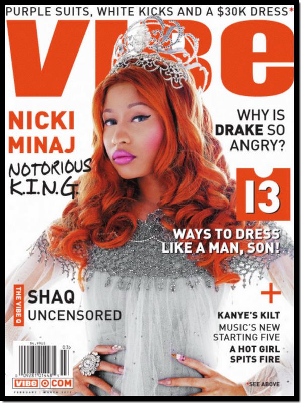 Nicki Minaj : De nouveau en couverture du magazine américain Vibe ! Edition février/ mars 2012