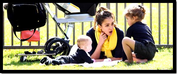 Jessica Alba : Comme tous les week-ends, accompagnées de sa petite famille, elle s'est rendue dans un parc de L.A pour profiter de tendres instants !