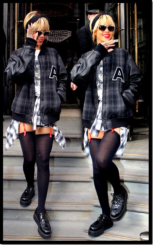 Rihanna : En ce lundi 20 février, jour de son 24ème anniversaire, elle a été reçue par une petit groupe de fan à la sortie de son hôtel londonien . Elle a signée des cartes d'anniversaire et fait des câlins pour le plus grand bonheur de ses fans !