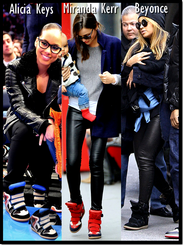 Alicia Keys, Miranda Kerr, Beyonce Knowles : Elles ont toutes craquées pour les baskets compensées à scratch de la créatrice française Isabel Marrant !