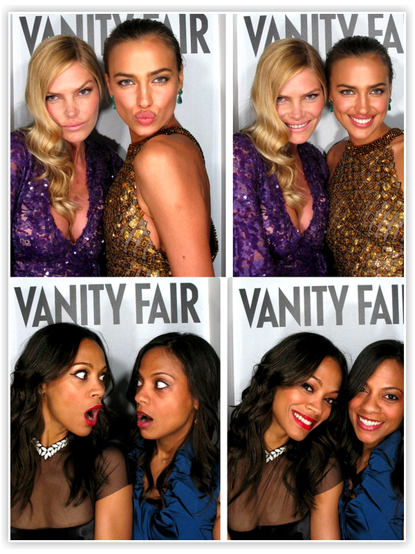 Le 'photomaton' des Oscars 2012 lors de l'After-Party organisée par Vanity Fair !