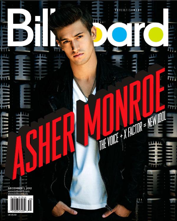 """Asher Monroe en couverture du célèbre magazine """"Billboard"""""""