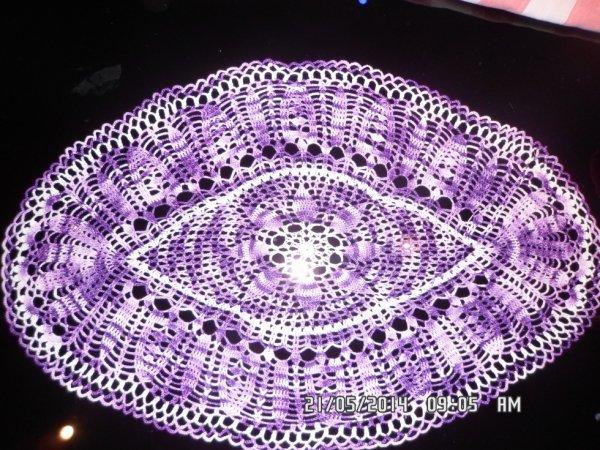 violet chine et blanc