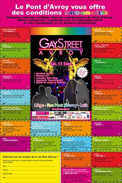 Gay Street 2010 Liege Relax café Pont d'avroy et de 6eme édition.
