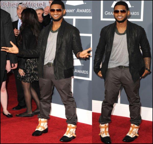 Artiiiiiicle 5:  Usher arrive au Grammy Awards 2011 :  13 Février. 2011