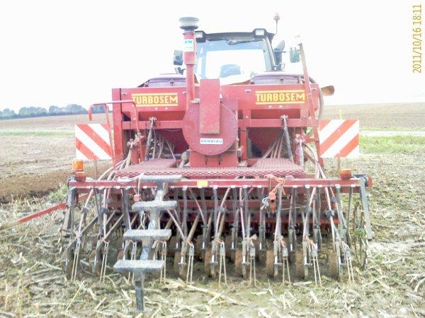 Semis de blé chez un client le 16 10 2011
