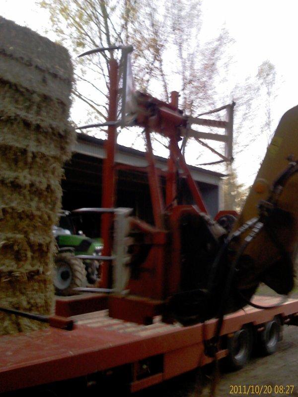 Quelques photos prises lors du chargement d'un camion de paille