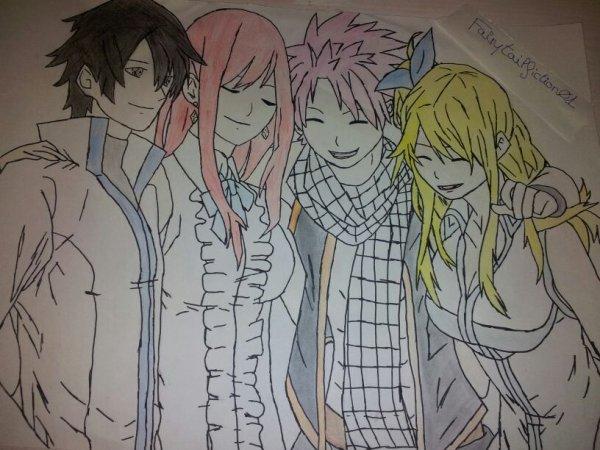 Dessin concours: Team Natsu.