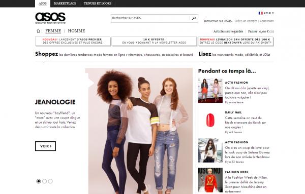 Les meilleurs E-Shop : Asos.