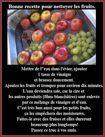 Nettoyer les fruits