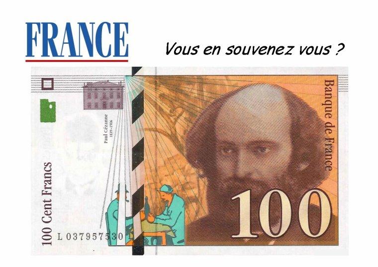 Le billet de 100 francs :
