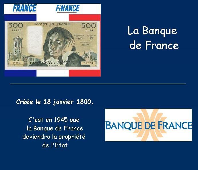 La Banque de France :