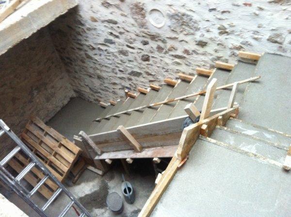 Betonnage de l'escaliier